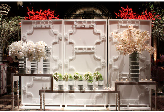 White Contemporary Floral Display