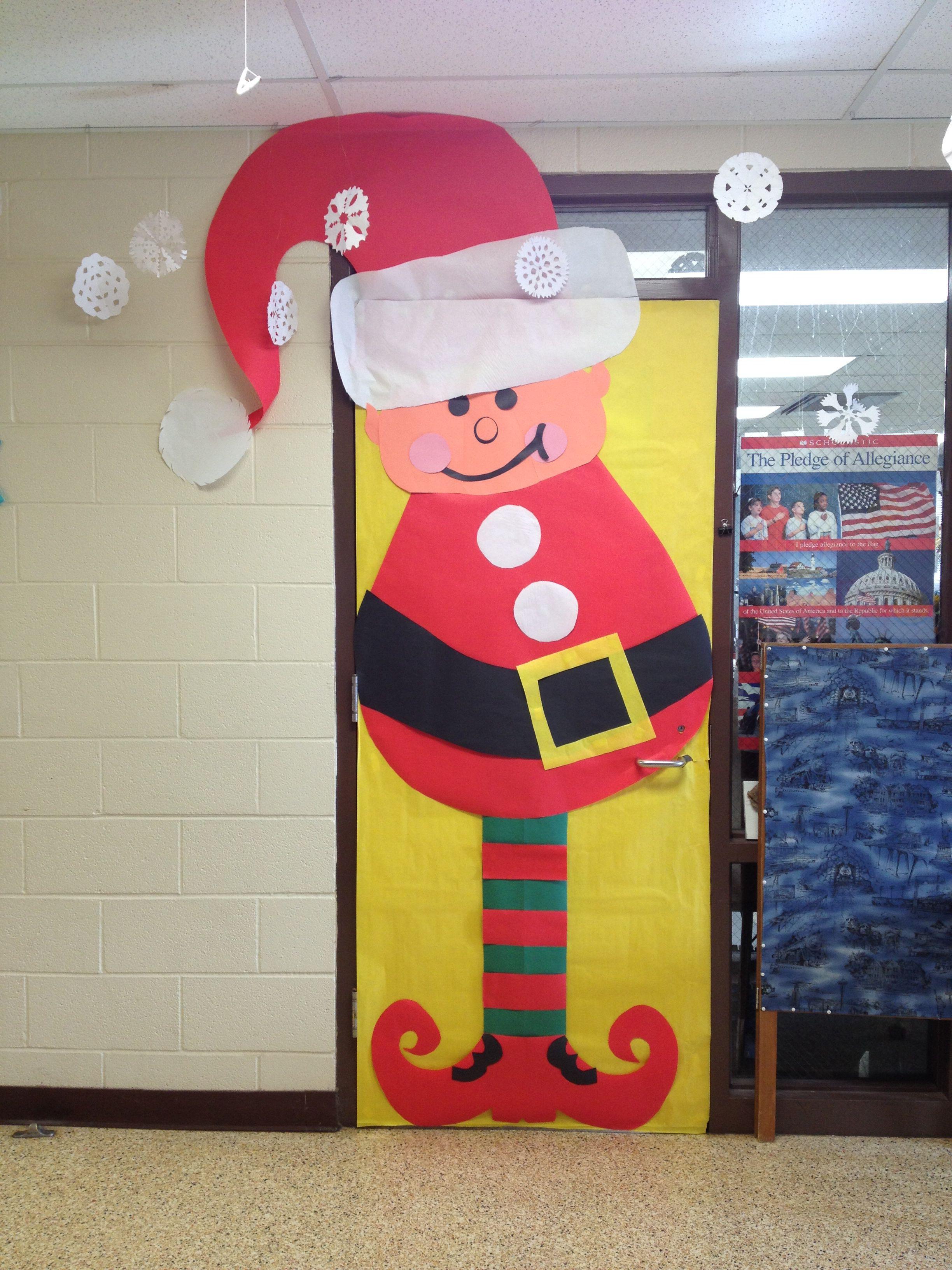 Christmas Classroom Door Decoration Elf Christmas Day