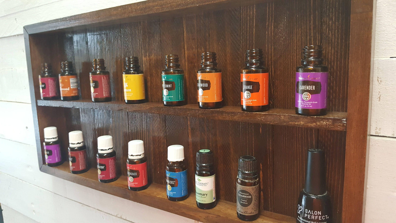 Country Rustic Primitive Essential Oil Nail Polish Shelf Rack Essential Oil Shelf Shelves