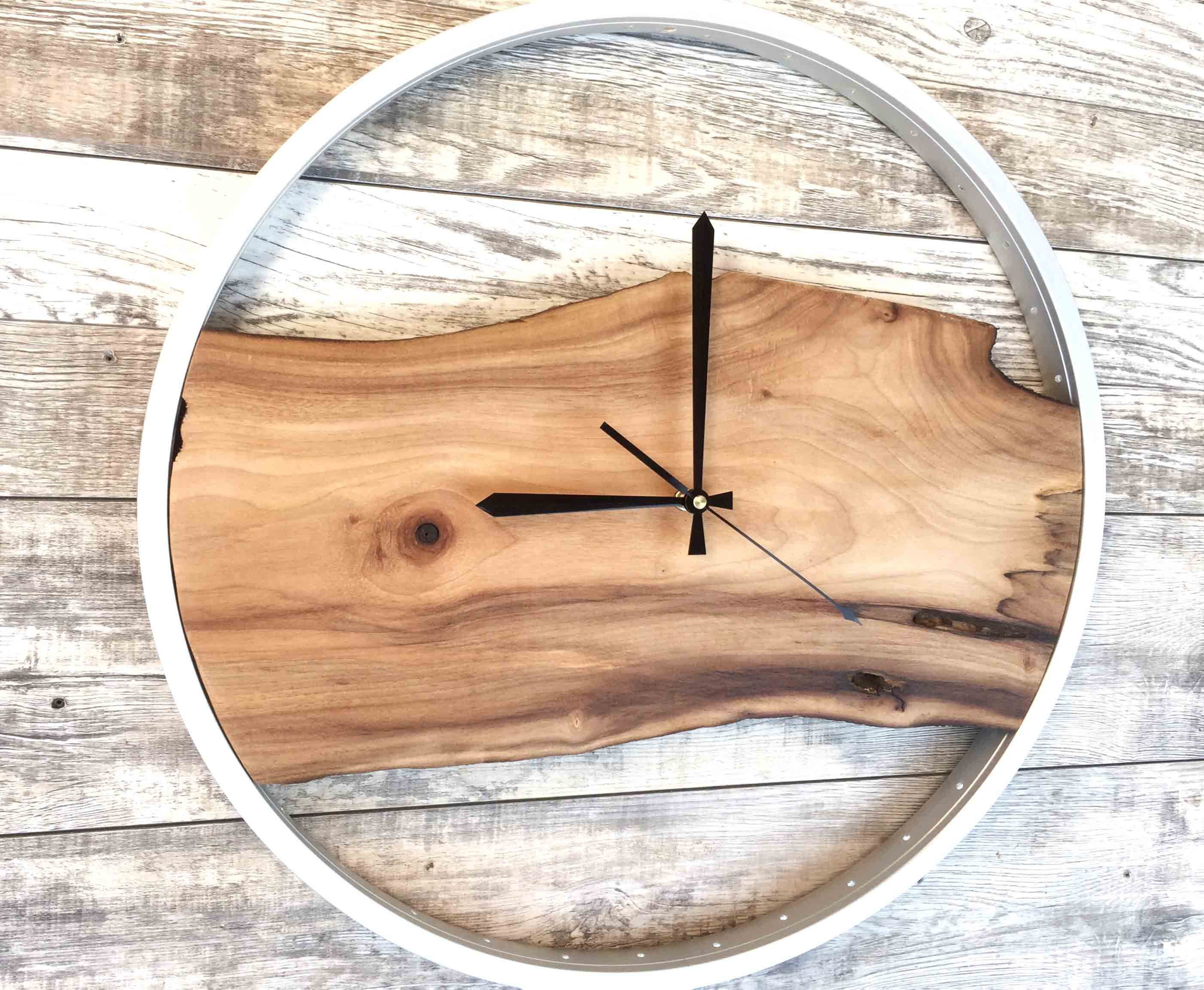 Bike Wood Clock Wooden Wall Clock Wood Wall Clock Modern Wood Wall Clock Wood Clocks Large Wall Clock