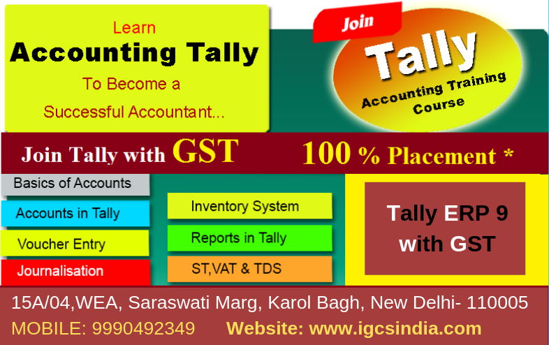 Best Tally Institute In Delhi Learn Accounting Accounting Course Train