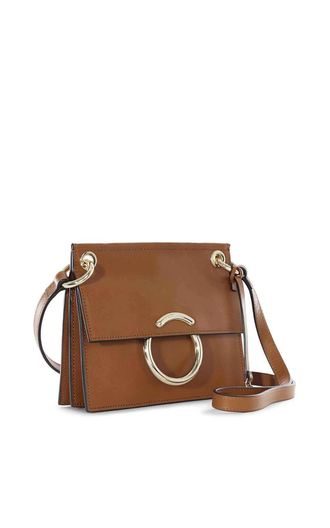 feb0a2dce5e4 Karen Millen, Small Leather O-ring Satchel Tan | Замша | Bags ...