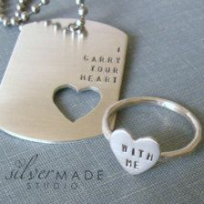 Pin By Alani Dietz On Happily Ever After Silver Heart Ring Dog Tags Boyfriend Gifts