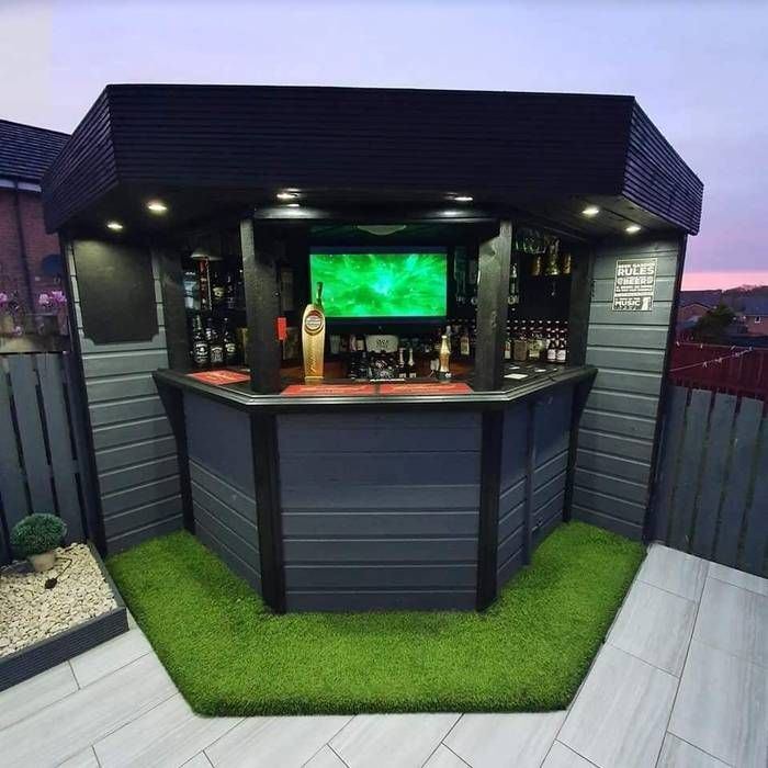 Man Makes Holiday Style Sports Bar In Back Garden