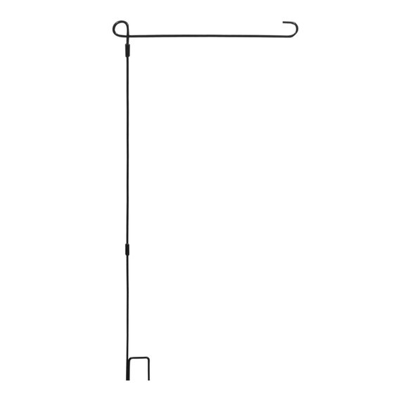 3 Piece Wrought Iron Garden Flag Stand By Evergreen For Small