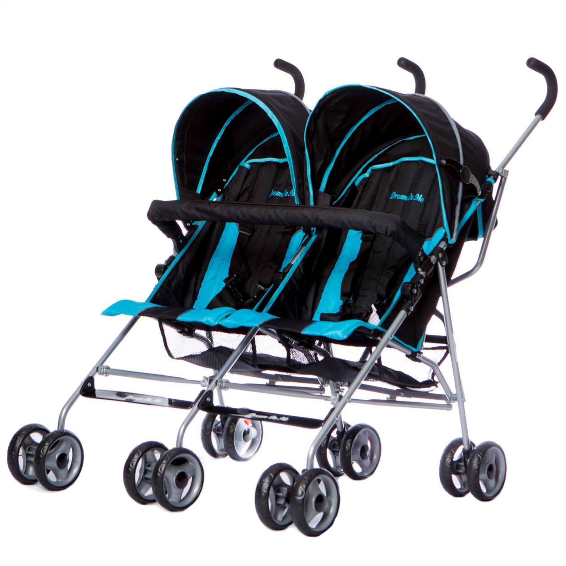 Dream On Me Twin Stroller Deep Blue 447DB Twin