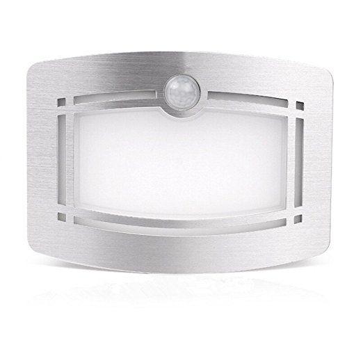 OxyLED T-03 Luxury Aluminum Stick Anywhere Bright Motion Sensor LED Wall Sconce Night Light