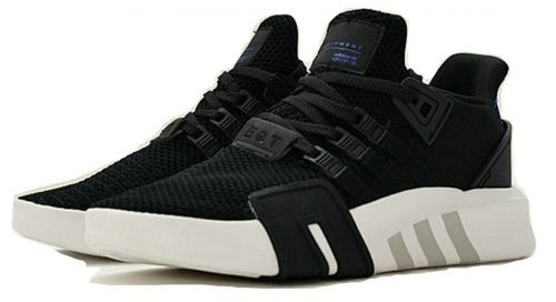 the latest b0559 2190e How To Buy Adidas EQT Basketball ADV Running Shoes Black White Blue CQ2994