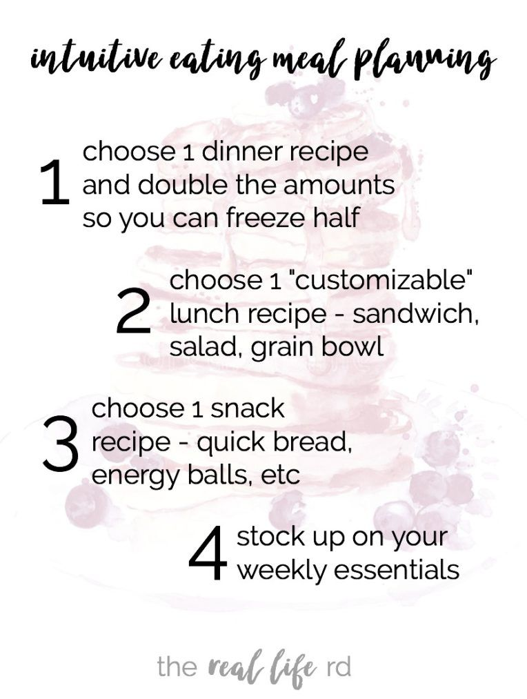 Intuitive Eating and Meal Planning | Eat Satisfying Foods All Week! By The Real Life RD