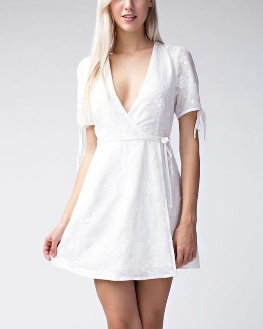 White Wrap Dress