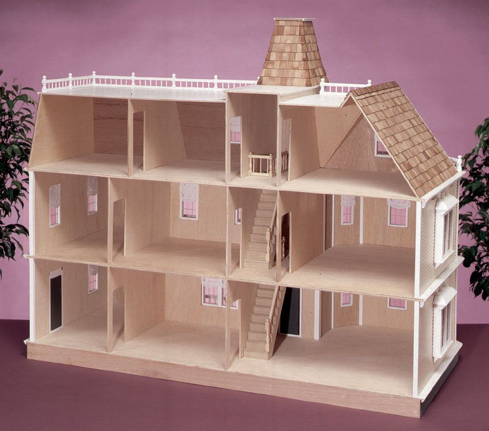 Wooden barbie doll houses patterns bing images barbie for Simple house design made of wood