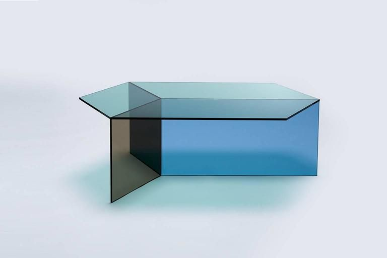Isom Table By Neo Craft Coffee Table Bronze Furniture Blue