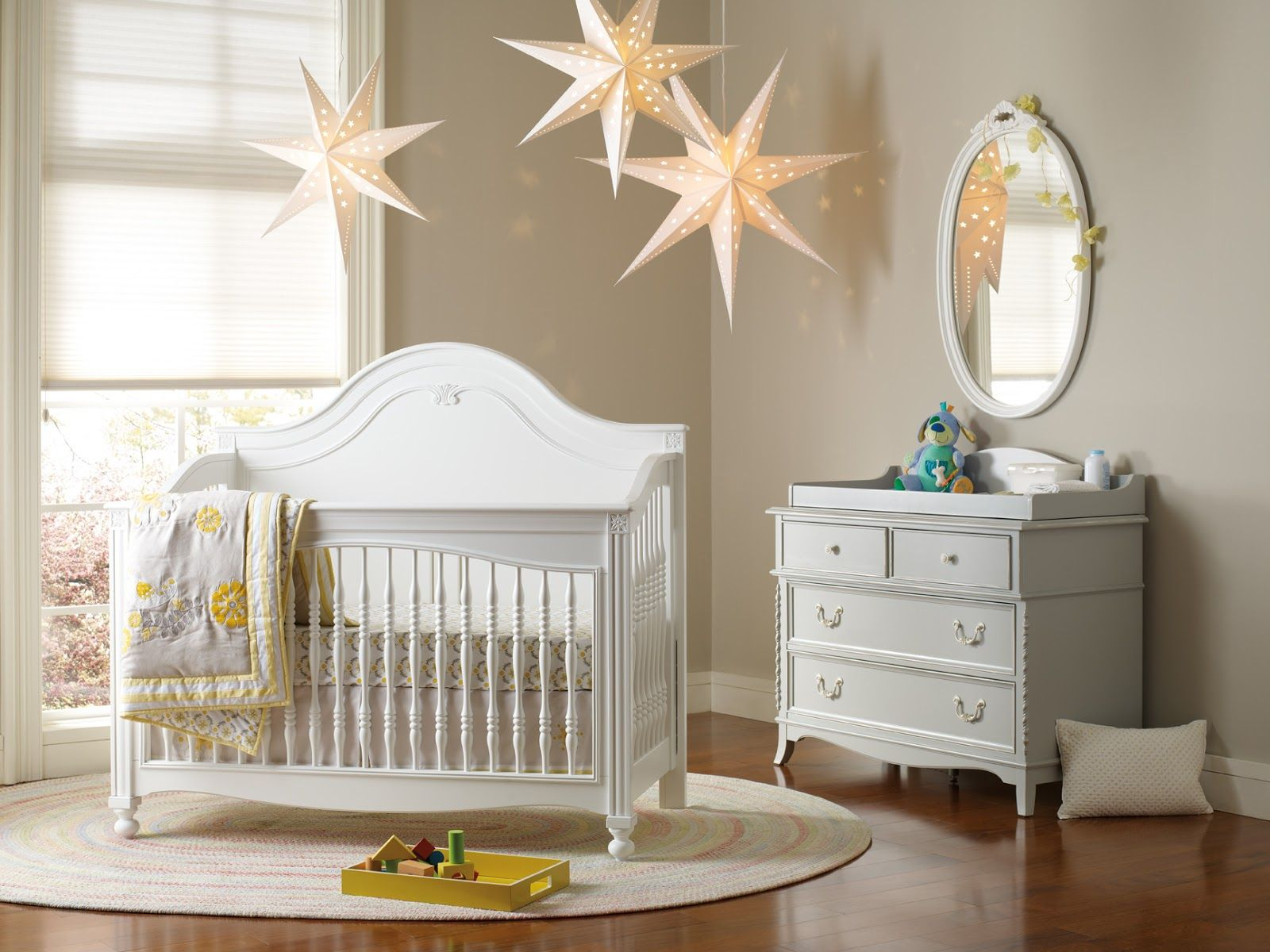hanging decorative stars cheap ideas for baby room