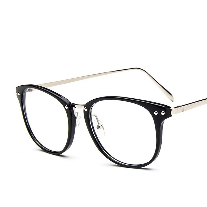 2016 new arrival big size glasses frames 9565 metal leg vintage tide eyeglasses frame women men