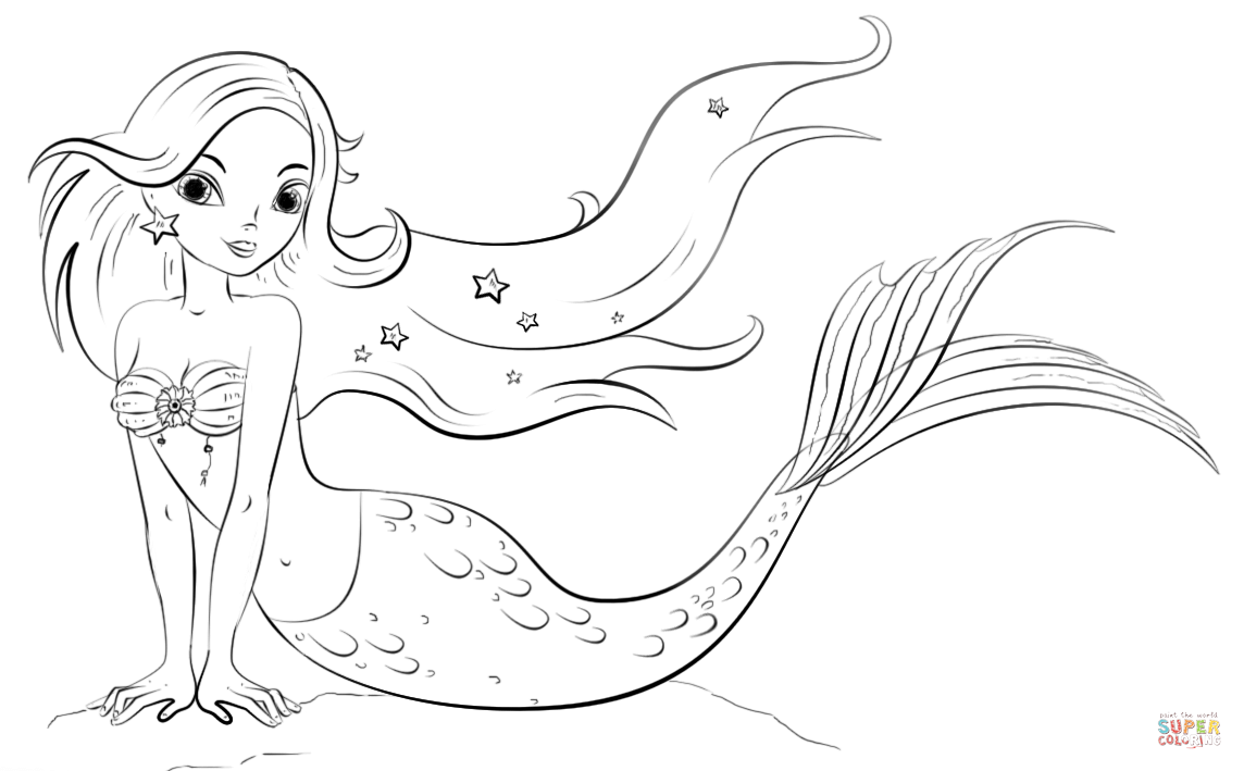 Http Www Supercoloring Com Sites Default Files Styles Coloring Full Public Cif 2015 07 Mermaid Color Mermaid Coloring Pages Mermaid Drawings Mermaid Coloring