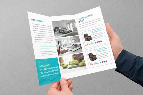 FurnitureTrifoldBrochureTemplatePSD BROCHRE Triptych - Trifold brochure template psd