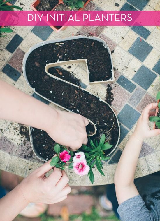 How to: Make DIY Letter Initial Planters