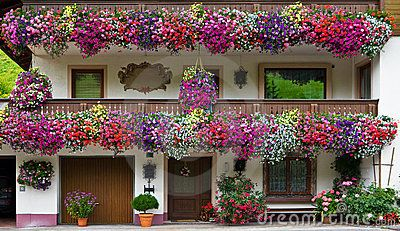 one sees these beautiful balconies everywhere in summer ...