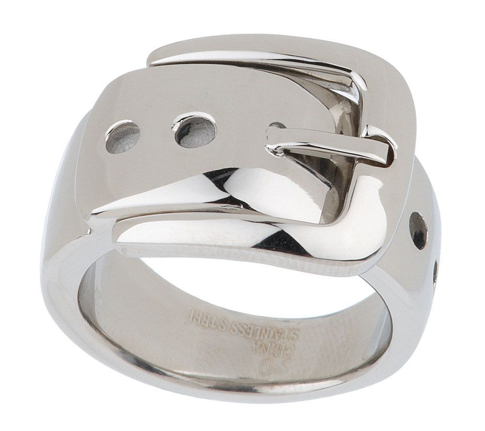Steel By Design High Polished Buckle Design Ring Steel Ring And Qvc