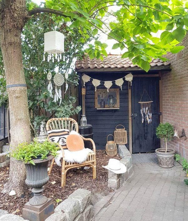 Una casa con estilo vintage industrial decoracion patios - Decoracion patios pequenos ...