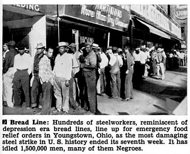 Steelworkers In Youngstown Ohio On The Bread Line Jet Magazine