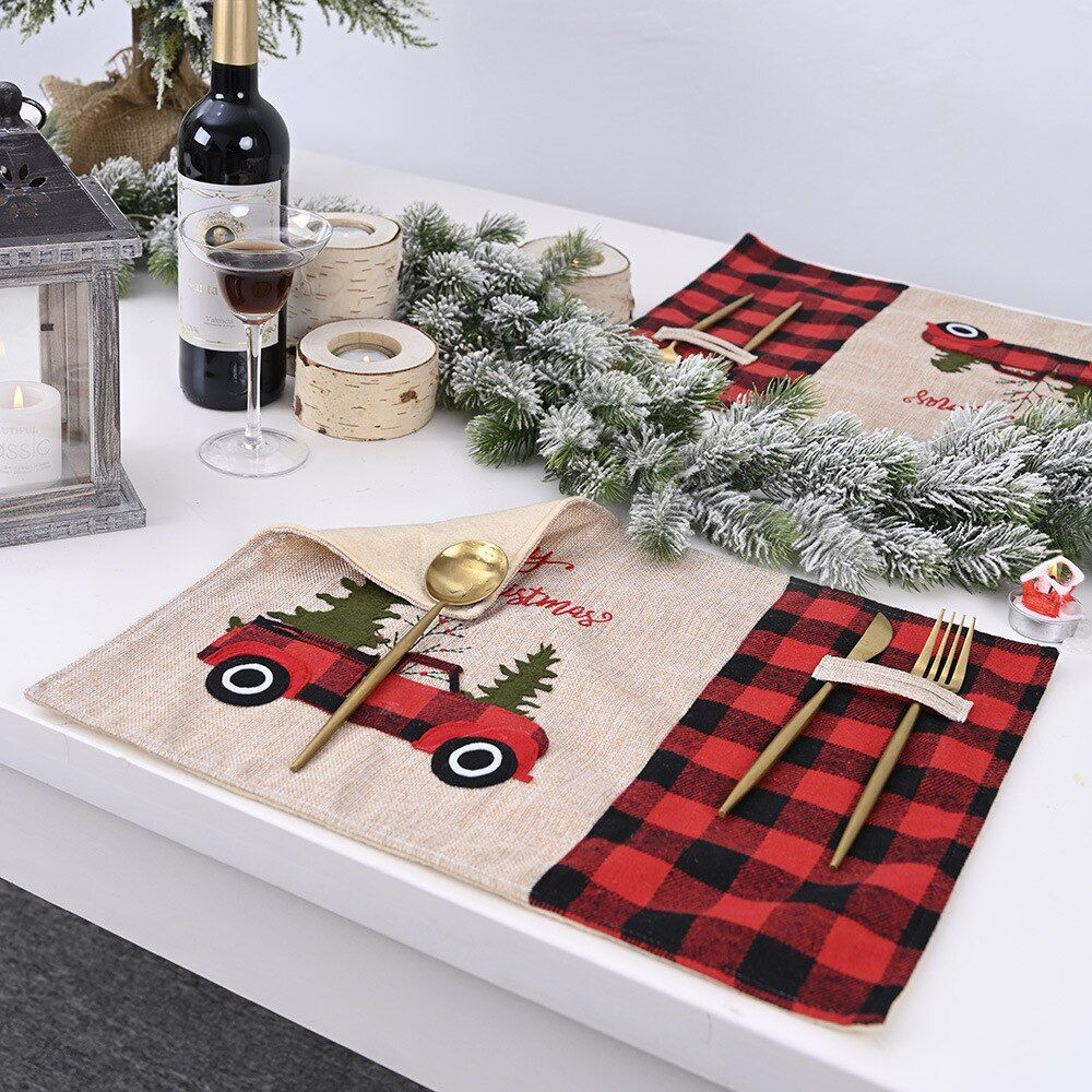 Cheap Tablecloths Buy Quality Home Garden Directly From China Suppliers Adorehouse Rectangle Table Mat Linen Christmas Placemats Placemats Red Table Linens