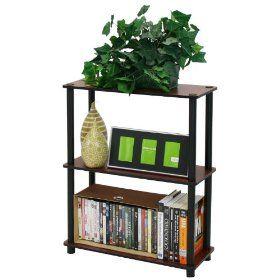 Shelf that matches black and dark cherry furniture