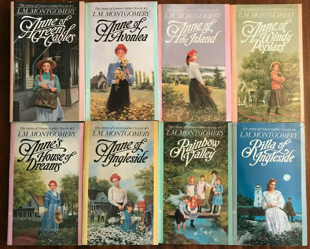 Complete Set 1 8 Anne Of Green Gables Books By L M Montgomery