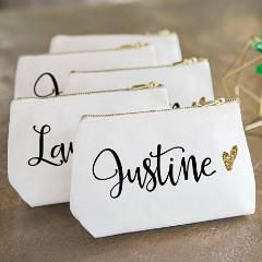 7d18eb2239e1 Personalized Makeup Bag in 2019 | Bridal + Wedding | Personalized ...