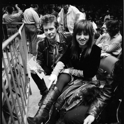 Jim Thirlwell and Lydia Lunch at the match ringside Madison...
