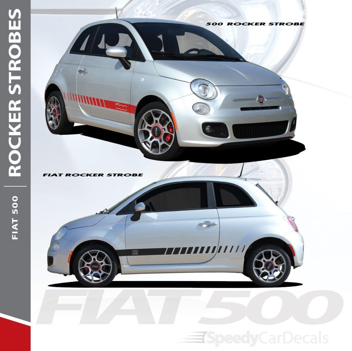 Fiat Abarth Stripes Fiat 500 Rocker Strobe 3m 2012 2019 Premium Auto Striping Fiat 500 Fiat Stripe Kit [ 1199 x 1200 Pixel ]