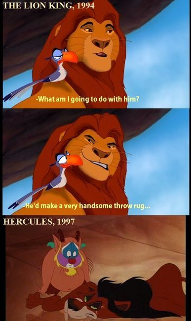 i actually noticed the rug with scar when i was little but i didnt