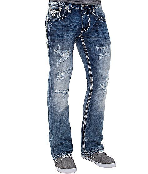 b85a0cc0 Rock Revival Pegasus Slim Boot Jean | Blue jeans & shorts | Mens ...