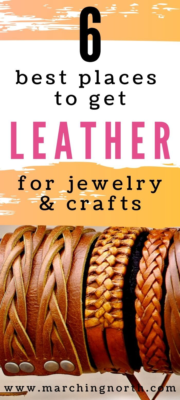 Photo of 6 Best Places to get Leather for Jewelry & Crafts