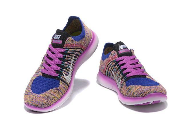 perder Notorio Álbum de graduación  Nike Free RN Flyknit Women Training Running Shoes Purple Multi Color  831070-500 | Nike shoes women, Nike free, Nike free rn
