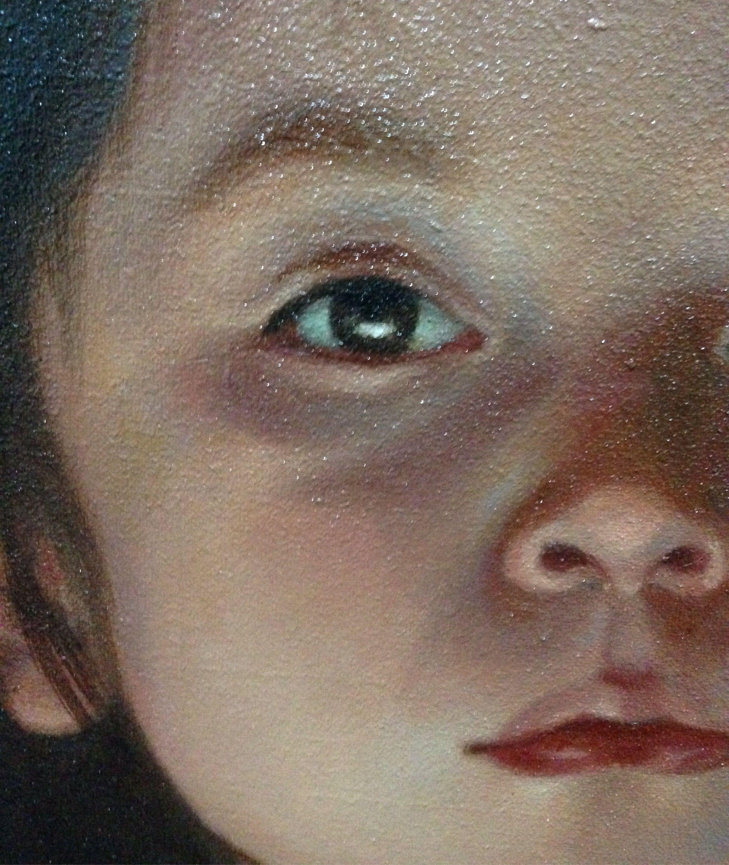 Oil painting , portrait detail