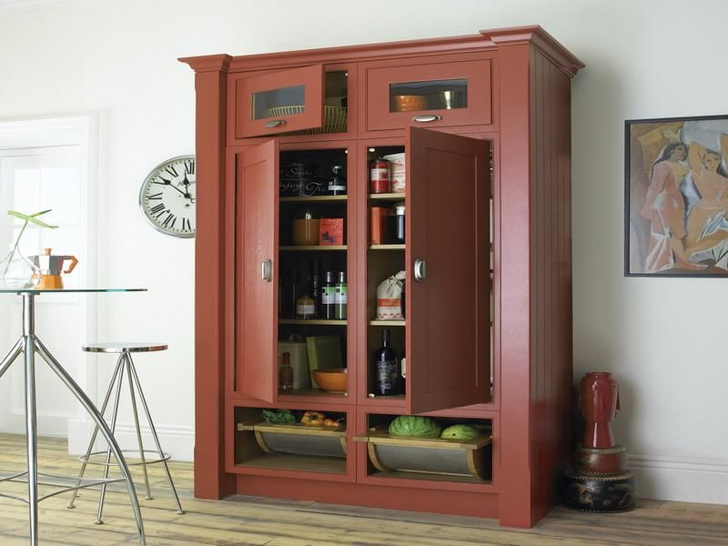 Free Standing Pantry=in Black