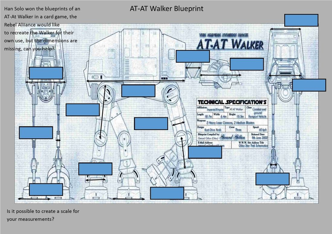Atat Walker Measuring Blueprint With Images
