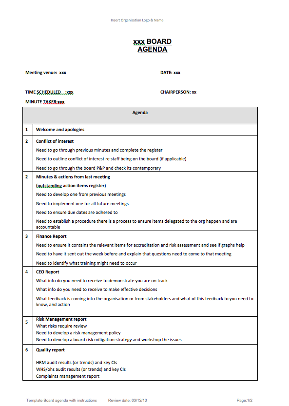 Health And Safety Board Report Template 1 Professional Templates
