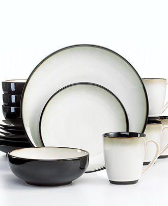 Sango Dinnerware Nova Black 16 Piece Set - Casual Dinnerware - Dining \u0026 Entertaining - Macy\u0027s  sc 1 st  Pinterest & Sango Dinnerware Nova Black 16 Piece Set - Casual Dinnerware ...