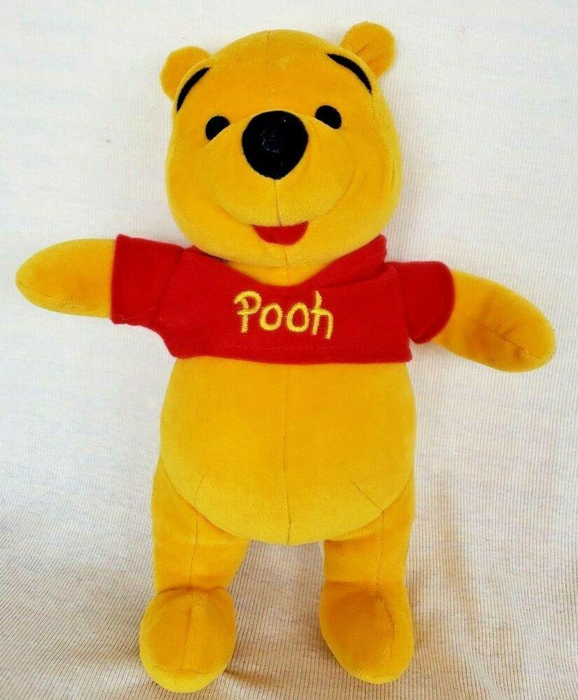 Disney Winnie The Pooh Plush Bear Classic Red T Shirt Stuffed Animal By Mattel Mattel Winnie The Pooh Plush Bear Plush Red Tshirt