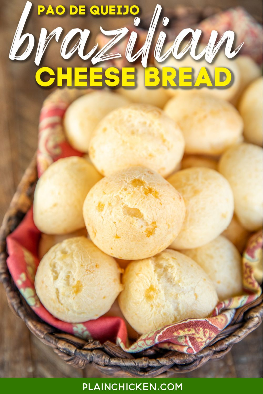 Brazilian Cheese Bread Pao De Queijo In 2021 Brazilian Cheese Bread Roasted Vegetables Balsamic Cheese