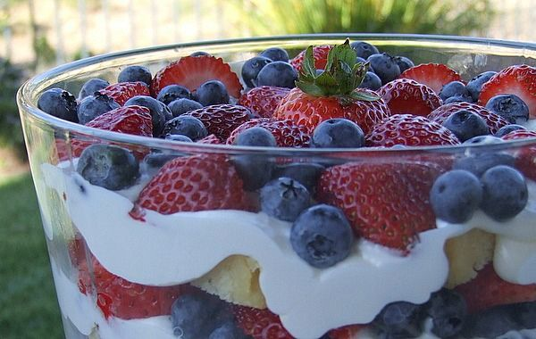 Recipe:  Layered berry trifle
