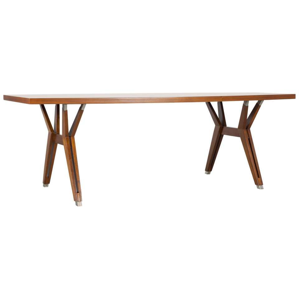 Dining Table By Ico Parisi Mim Roma For Sale Wooden Dining Tables Dining Table Modern Dining Room Tables