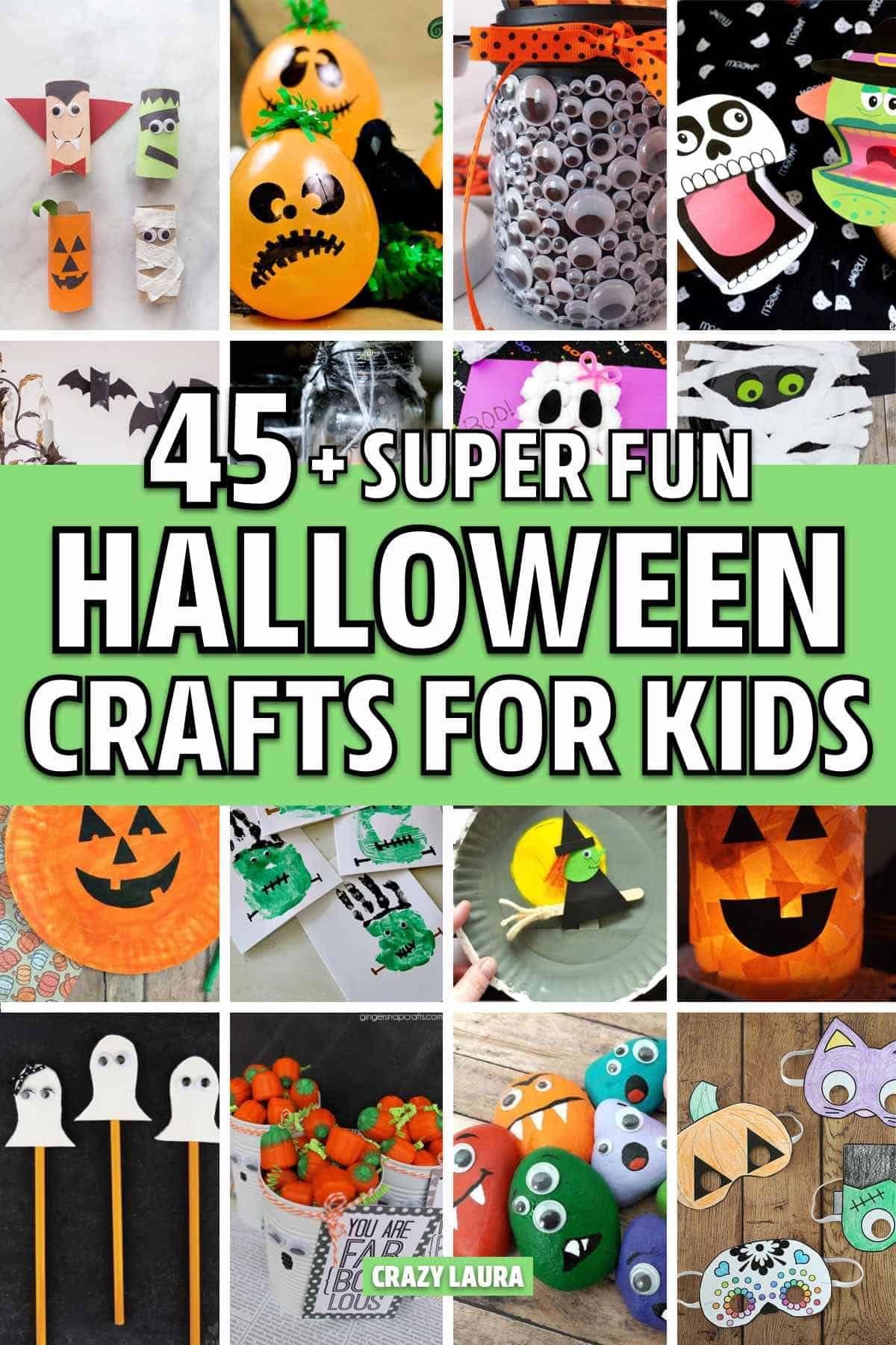 Halloween Craft Ideas 2020 45+ Best Halloween Crafts For Kids In 2020   Crazy Laura
