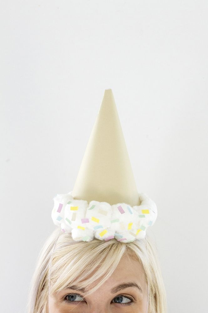 DIY Upside Down Ice Cream Cone Party Hat Dream Green DIY + @ehow - party hat template