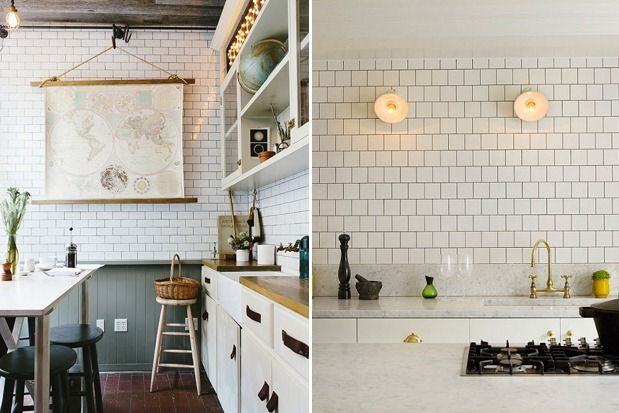 Checkered Floor Kitchen Tile Wall
