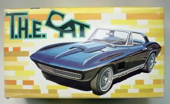 amt the cat corvette model kit model kits cars pinterest rh pinterest com