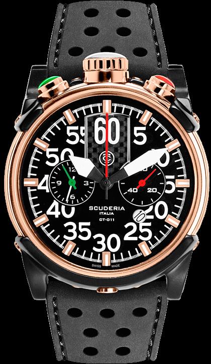 CT Scuderia Watch Chrongraph #bezel-fixed #bracelet-strap-rubber…