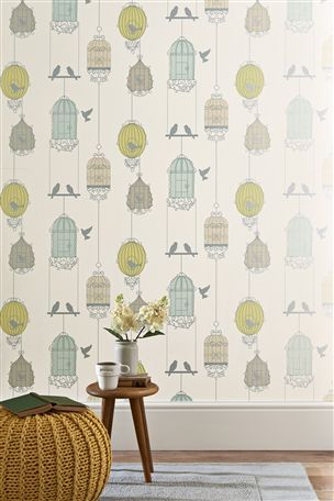Birdcage Wallpaper From Next Kitchen Wallpaper Modern Kitchen Wallpaper Home Wallpaper